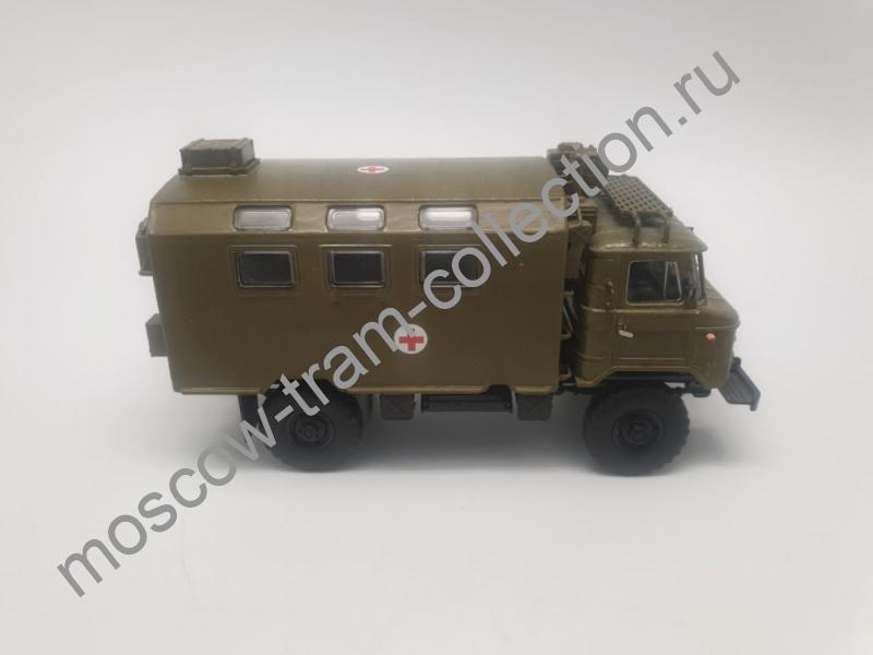Коллекционная масштабная модель 1:43 Горьковский автомобиль 66 Кунг медицинский