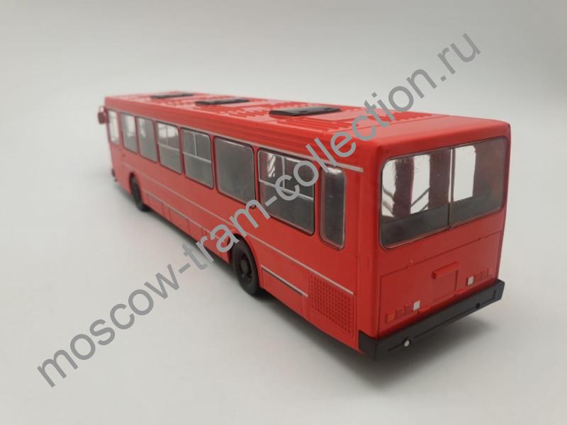 Коллекционная масштабная модель 1:43 Выпуск №16, ЛиАЗ-5256, красный