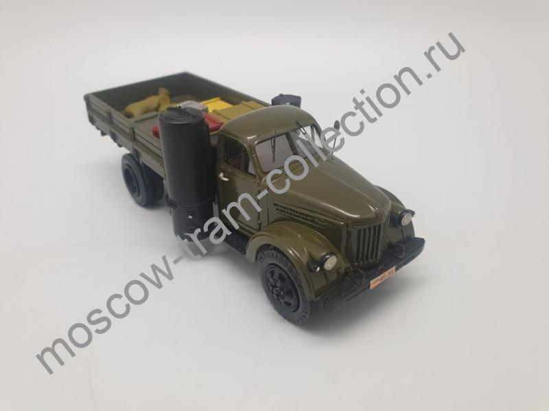 Коллекционная масштабная модель 1:43 Урал-Зис 354 газогенераторный с грузом в кузове