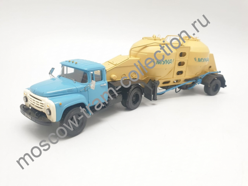 """Коллекционная масштабная модель 1:43 ЗИЛ-130 с п/п муковозом К4-АМГ """"Мука"""""""