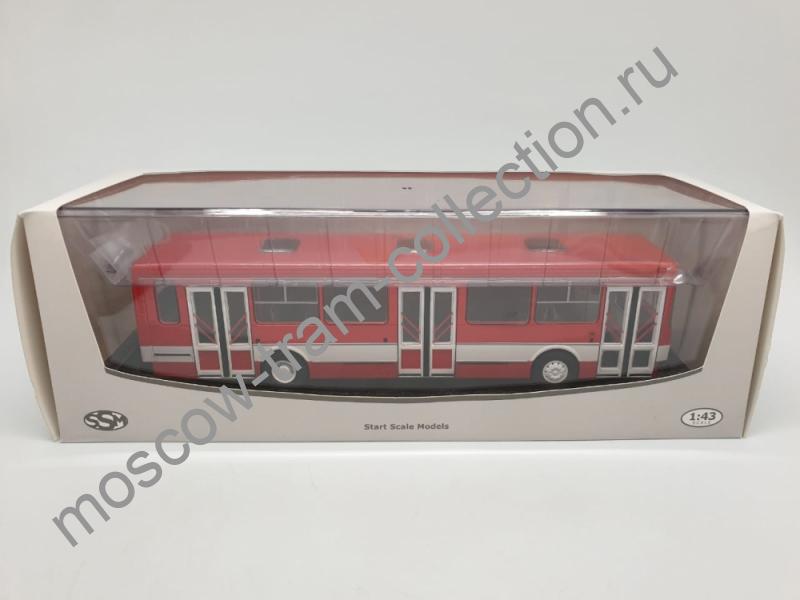 Коллекционная масштабная модель 1:43 Лиаз 5256 (Красно-белый)