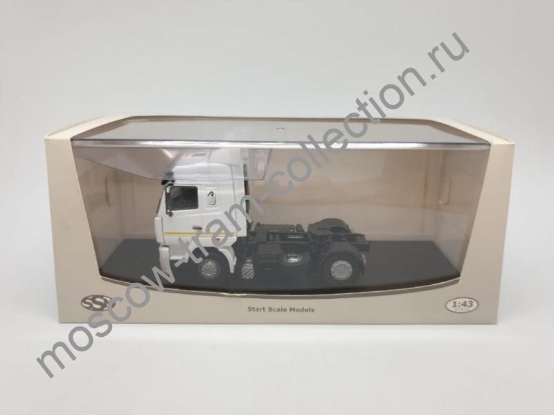 Коллекционная масштабная модель 1:43 Маз 5440 белый