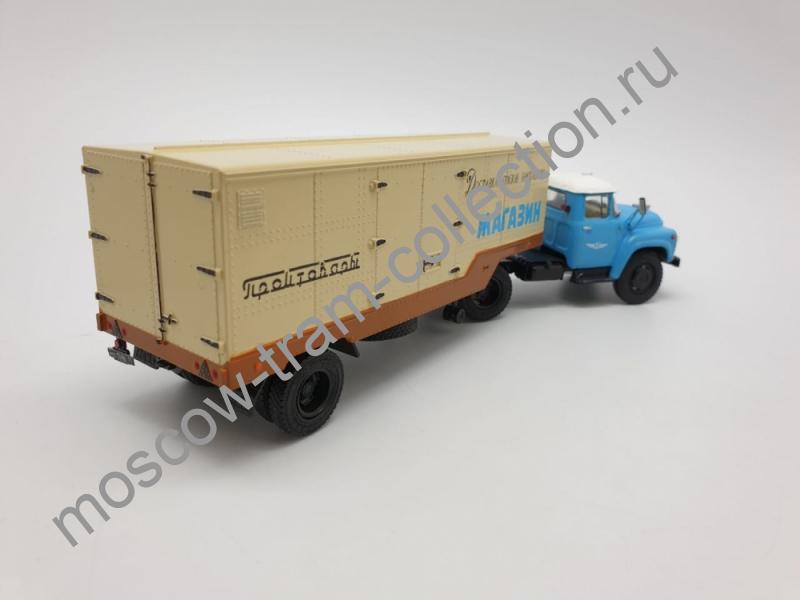 """Коллекционная масштабная модель 1:43 ЗИЛ-130В1 с п/п ОДАЗ-794 """"Промтовары"""""""
