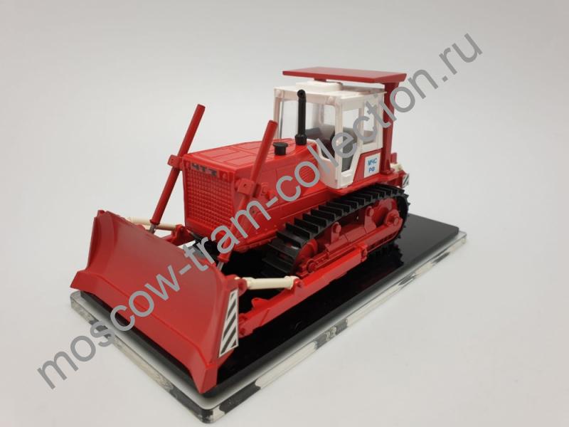Коллекционная масштабная модель 1:43 Бульдозер Б10.0010ЕН пожарный МЧС