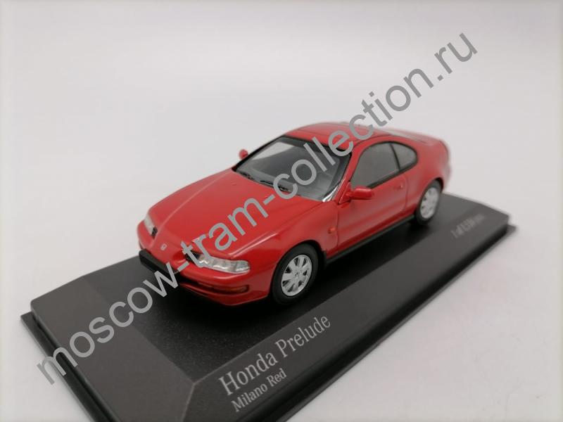 Коллекционная масштабная модель 1:43 Honda Prelude 1992 red
