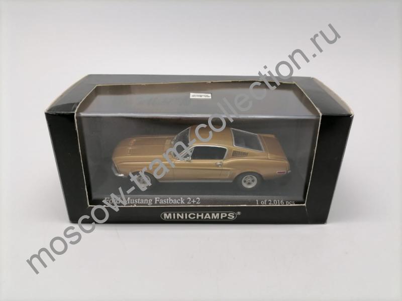 Коллекционная масштабная модель 1:43 Ford Mustang Fastback 2+2 gold