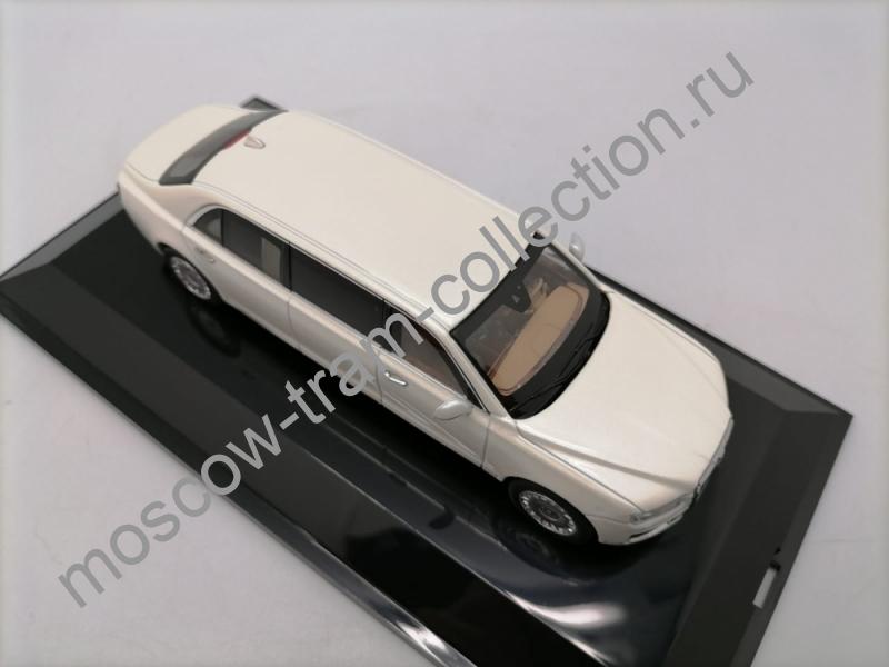 "Коллекционная масштабная модель 1:43 Aurus Senat Limousine ""2018"" (Lustre White)"
