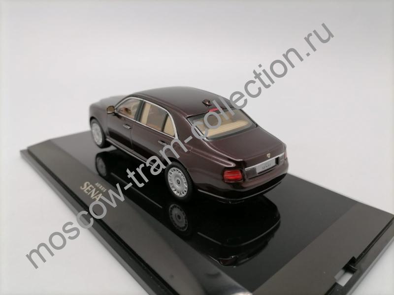 Коллекционная масштабная модель 1:43 Aurus Senat S600, cherry