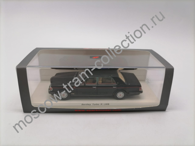 Коллекционная масштабная модель 1:43 BENTLEY Turbo R LWB (1989), black