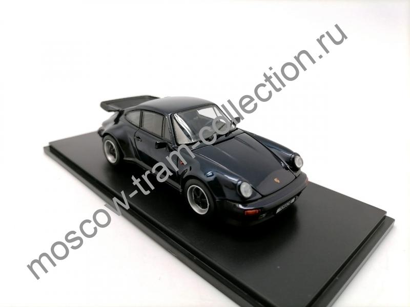 Коллекционная масштабная модель 1:43 Porsche 911 Turbo 3.3 1988 (black) арт.05525DB