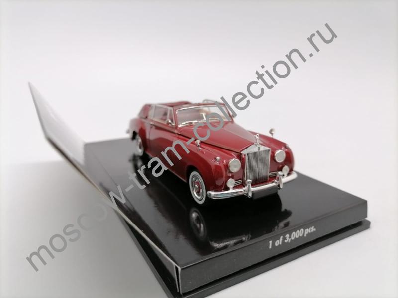 Коллекционная масштабная модель 1:43 Rolls Royce - Silver  Cloud II Cabriolet Red.арт.436 134930
