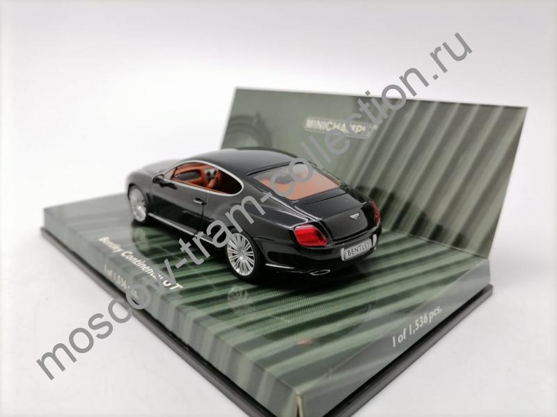 Коллекционная масштабная модель 1:43 Bentley Continental GT Black 2008g. арт.436 139600