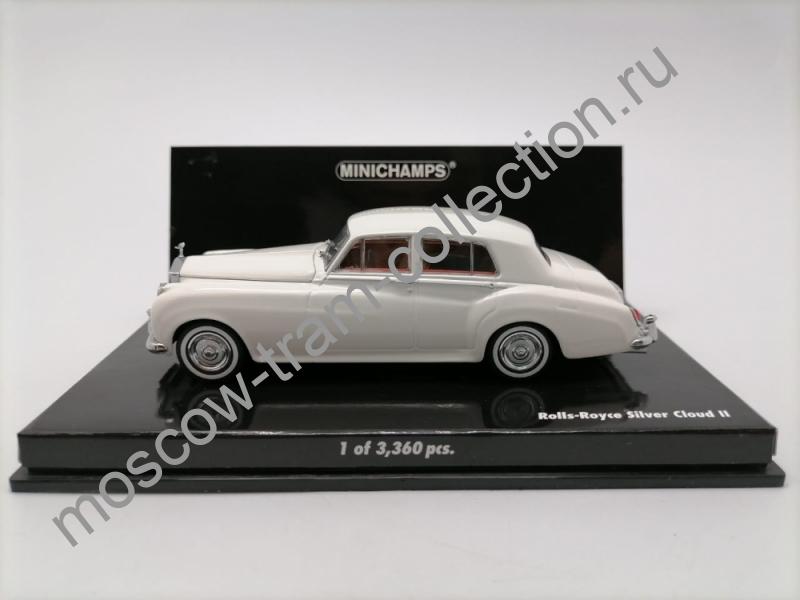 Коллекционная масштабная модель 1:43 Rolls Royce Silver Cloud II White 1960g. арт.436134900