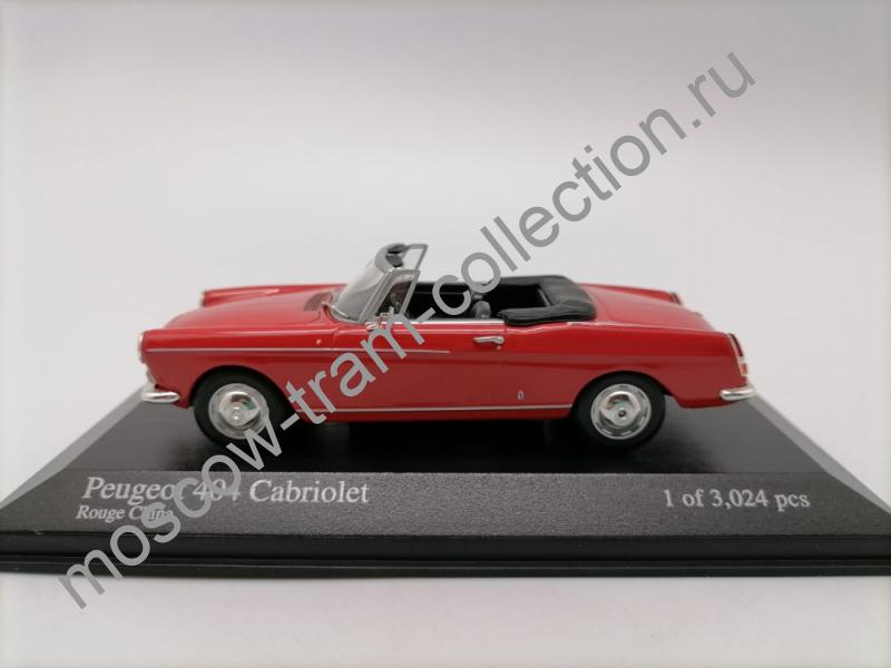 Масштабная коллекционная модель Peugeot 404 Cabriolet