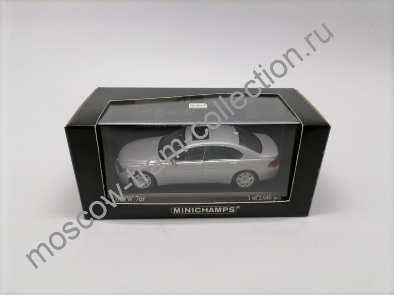 Коллекционная масштабная модель 1:43 BMW-7 Series Silver 2001g. арт.431 020200