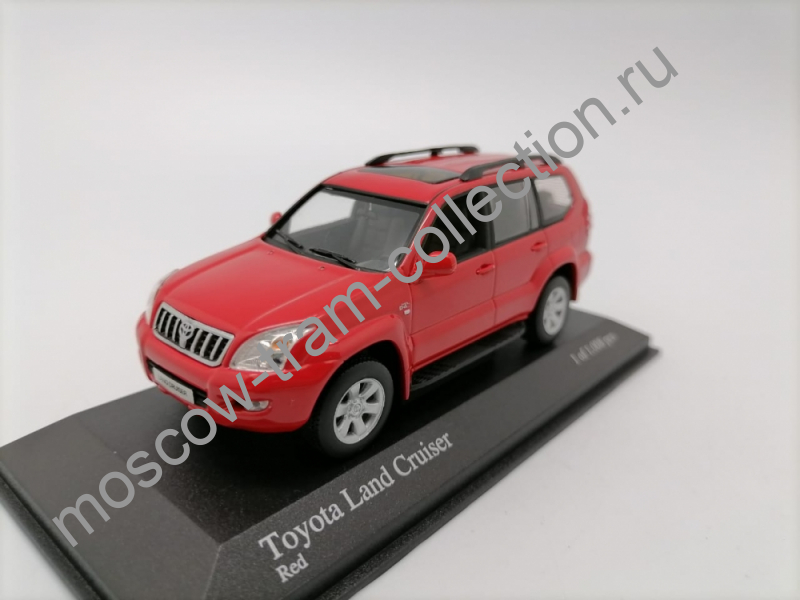 Коллекционная масштабная модель 1:43 Toyota Land Cruiser  Red 2002g. арт.400 166271