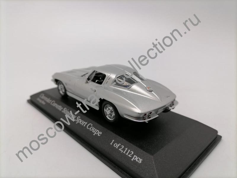Коллекционная масштабная модель 1:43 Chevrolet Corvette 1963 silver