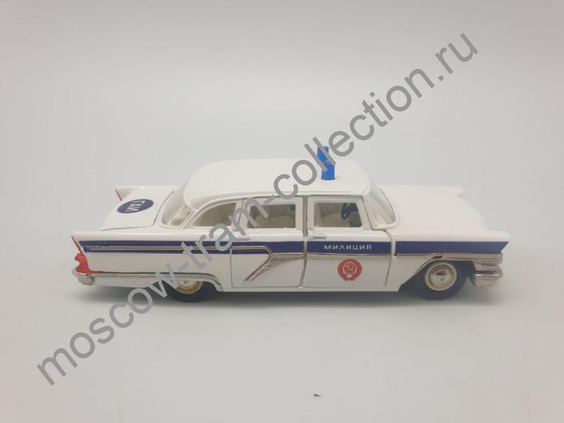 """Коллекционная масштабная модель 1:43 ГАЗ-13 Чайка, """"Милиция ГАИ"""", белый цвет"""