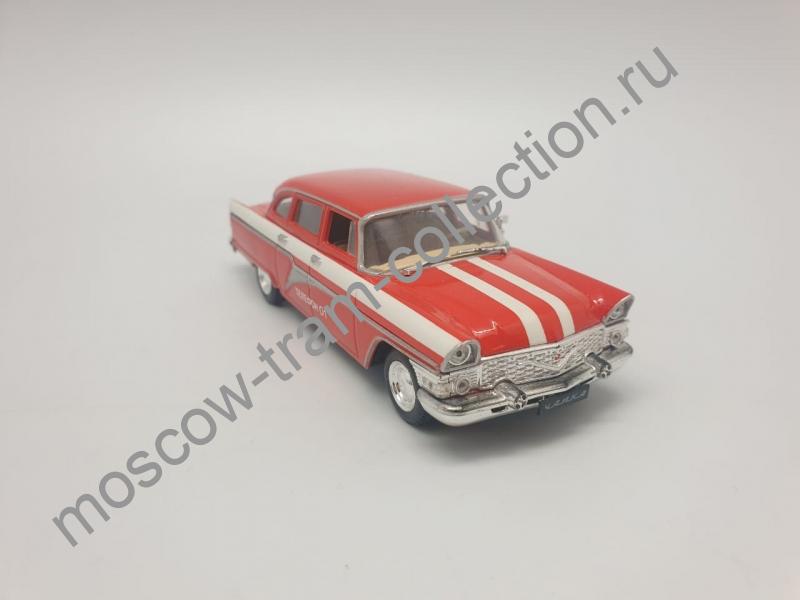 """Коллекционная масштабная модель 1:43 ГАЗ-13 Чайка, """"Телефон 01"""", красный цвет"""