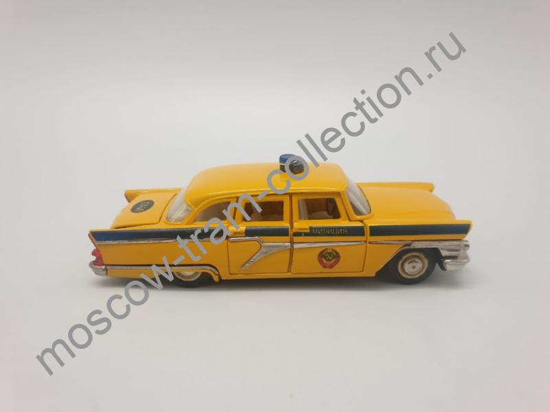 """Коллекционная масштабная модель 1:43 ГАЗ-13 Чайка, """"Милиция ГАИ"""", жёлтый цвет"""